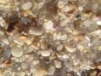 The beach is an amazing coarse white sand -its really like lying on a bed of jewels!