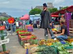 One of the many colourful markets