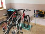 Il deposito per le biciclette
