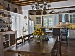 Our open plan kitchen and dinning in the main house
