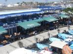 Fish restaurants at Ayia Nappa harbour 15 min drive from apartment