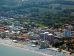 Vista aerea Lido di Pomposa.