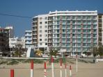 Fronting on Monte Gordo beach