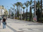 On pedestrian promenade to cafes, restaurants and shopping