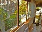 view from bedroom facing garden