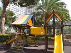 Childrens playground in the complex gardens