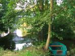 The River Argenton - you can use the boat for a lovely row up the river