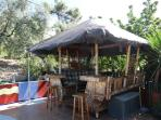 Our Gazebo ideal to shelter after a swim or sunbathe