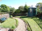 The rear garden. A real suntrap