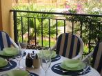 Covered Terrace overlooking garden & pool