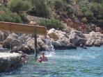 The amazing waterslide at the Kalkan Beach Club