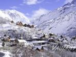 The beautiful mountain village of Vaujany