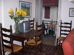 Dining area and balcony table