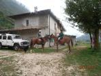 Mountain farm house ground floor, Localita Fabbrica Costa 600m Gargnano Lake Garda