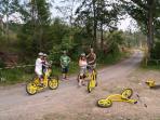 Downhill scooters in Tatranská Lomnica.