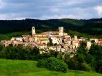 The Medieval hamlet of San Casciano dei Bagni