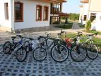 Our guest can use these mountain bikes to explore the area and burn some calories.