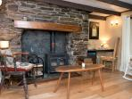 Wagmuggle has two sitting rooms, each with a woodburner and plenty of seating