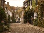 The famous cobbles of Mermaid Street, Rye.