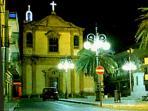 Casteldaccia 'Piazza Matrice' at night