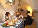 Ferienwohnung Schmiede am Hagerhof, Gewölbekeller mit offener Feuerstelle