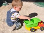 Busy at the sand pit