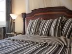 Historic wooden double bed