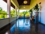 Large 10 foot wide balconies across the breadth of the villa. Panoramic views of the lagoon.