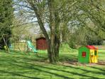 play area for little ones in shady spot in the garden