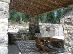 courtyard with pergola