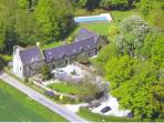Manoir De Bodion nestling in 6 acres of lawn and woods