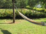 relax in the garden, enjoying panoramic sea view