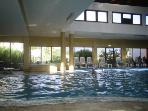 Indoor Pool and Sauna also with a steam room - just incase the sun is Too hot and you need a break!