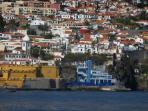 View of the villa from the porto santo boat