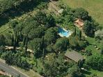 aerial photo of the property COTTAGE AND POOL