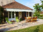 the terrace... sunbathing?