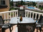 A glass of wine or two on the terrace - a relaxing end to the day