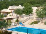 The trulli + pool