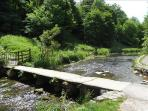 The old clapper bridge at the bottom of the footpath, looking towards Middleton Dale