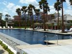 5 star Finca Cortesin beach club pool and restaurant - 400m walk from the house
