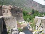 Ancient walled Town of Villefranche-de-Conflent, a 4km drive from the Villa