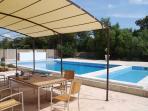 outside terrace & pools
