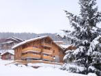 Exterior of the chalet