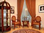 This home stay is decorated with fine Indonesian and European furnishings