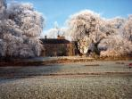 A frosty morning at Gateham Grange - relax in your very own wing of this lovely old farmhouse