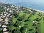 Aerial shot of part of Vale do Lobo