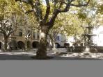 The Square at Uzes, La Place aux Herbes