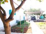Side garden & parking