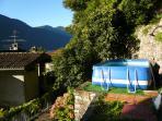 Swimming pool in  the villa