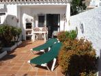 LOVELY LARGE, PRIVATE, PATIO WITH MEDITERANEAN PLANTS . LOTS OF SUN !!
